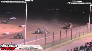 Wrecked Wednesday 4 Shelby Byrd & Ricky Crawford Flip at Lawton Speedway in 2015