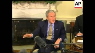 US President Bush meets Czech PM Mirek Topolanek
