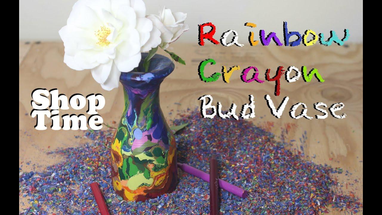 rainbow crayon bud vase youtube