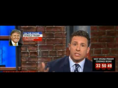 Donald Trump repeatedly corrects Chris Cuomo on CNN for his fake news statements
