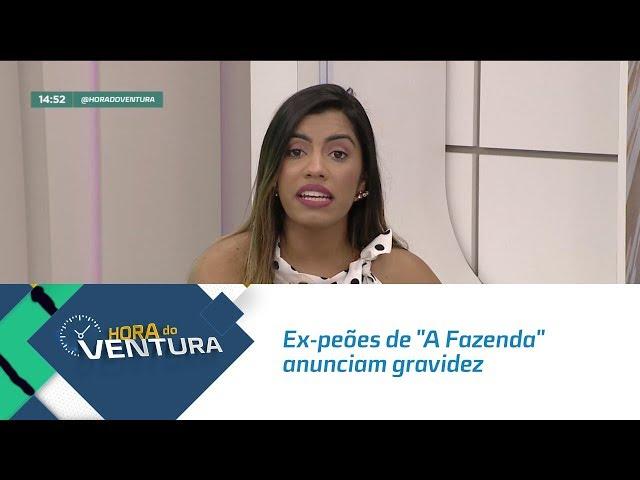 """Ex-peões de """"A Fazenda"""" anunciam gravidez - Bloco 02"""