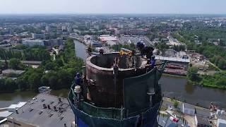 Rozbiórka komina  Wrocław - Live streaming