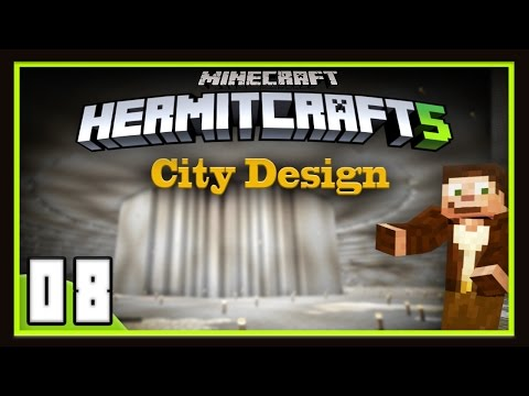HermitCraft Season 5: City Design And Doing Some Spying  (Minecraft 1.12)