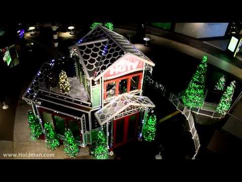 Holdman Lighting Christmas Santa Monica Place 2013