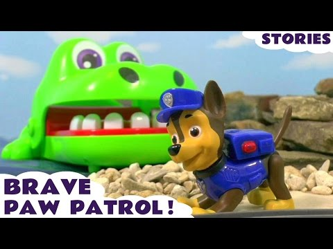 Thumbnail: Paw Patrol Stop Motion Brave Pups with Thomas and Friends & Play Doh and Kinder Surprise Eggs TT4U