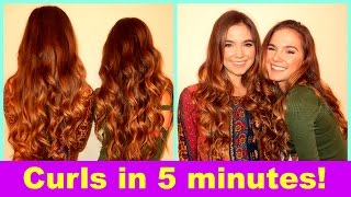 5 Minute Curls With Nina And Randa!