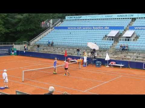 Rudi Molleker Matchball im Finale Tennis German Juniors in Berlin 2017