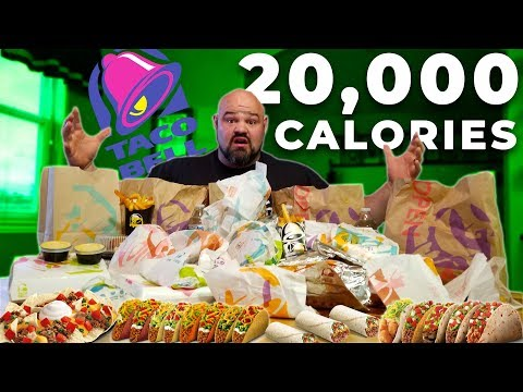 ENTIRE TACO BELL MENU CHALLENGE | STRONGMAN CHEAT MEAL
