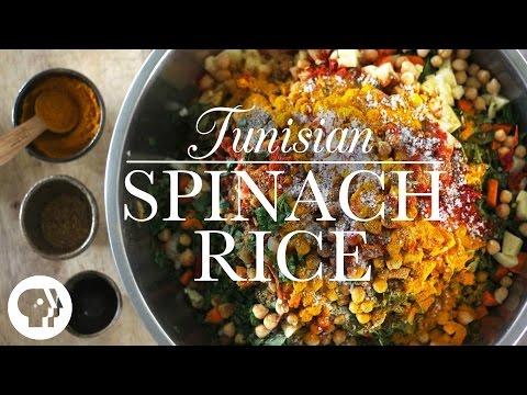 Tunisian Spinach Rice | Kitchen Vignettes | PBS Food