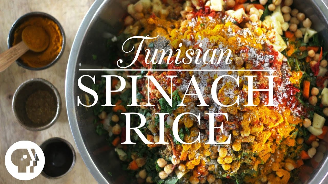 Tunisian Spinach Rice  Kitchen Vignettes  PBS Food  YouTube