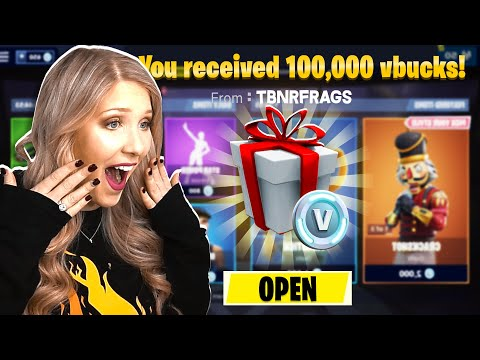 I WON 100,000 *FREE* VBUCKS FROM PRESTONPLAYZ! (Fortnite Challenge)