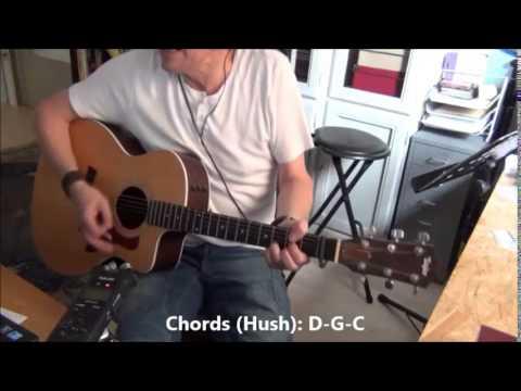 Hush Billy Joe Royal Deep Purple Tutorial For Acoustic Guitar