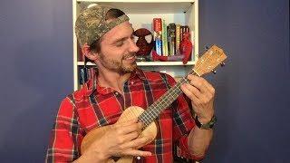 Dek Bovinoj en la ukulelo