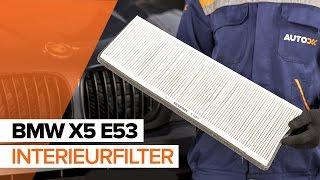 Hoe een interieurfilter vervangen op een BMW X5 E53 HANDLEIDING | AUTODOC