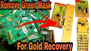 How To Remove Gręen Solder Mask From PCB Board | Gold Recovery