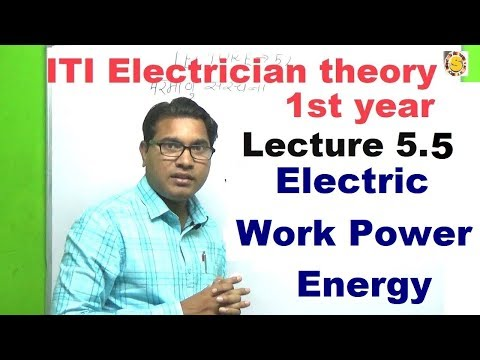 1st year iti electrician theory lecture 5.5 electric work en