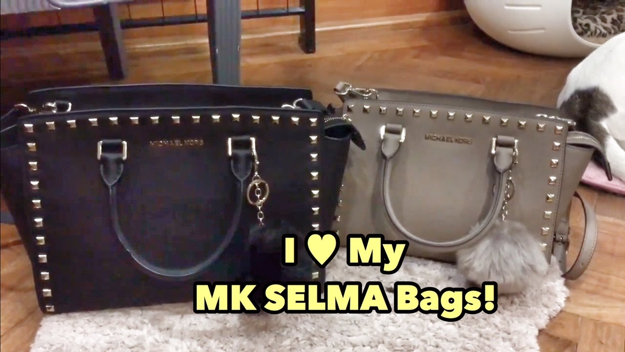 01872988224b Comparison Michael Kors Selma Bags in Large and Medium - Review / What fits  / Authentication Tips - YouTube