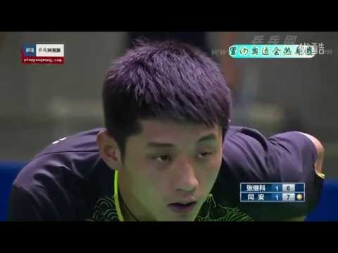 2016 China Warm-up matches for Rio Olympics: ZHANG Jike - YAN An  [Full* Match/Chinese]