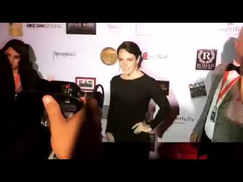 Sarah Nicklin Attends Roman Media, Inc.'s Pre-Oscar Party Celebrating Women and Diversity in Film