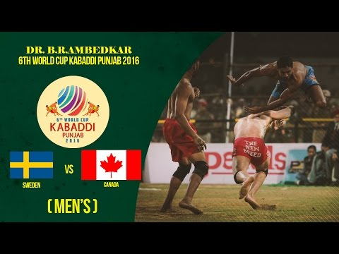 Sweden Vs Canada | Men's | Dr. B. R. Ambedkar 6th World Cup Kabaddi Punjab 2016