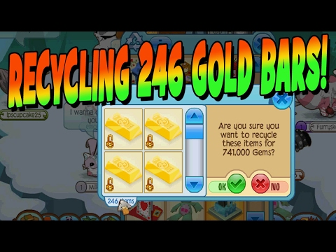 RECYCLING 246 GOLD BARS EQUALS A TON OF GEMS!