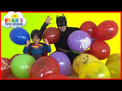 Thumbnail: SURPRISE TOYS GIANT BALLOON POP CHALLENGE Batman vs Superman Disney Cars Toys Thomas and Friends