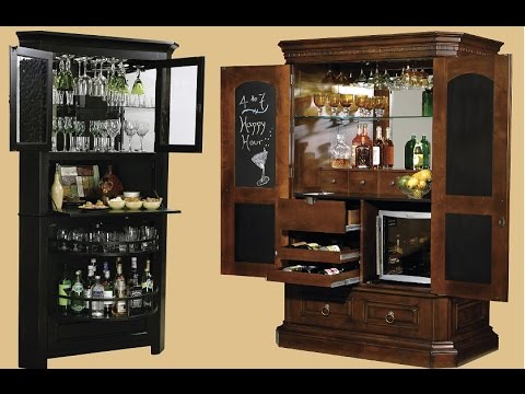 Exquisite Tall Bar Cabinet Design Ideas