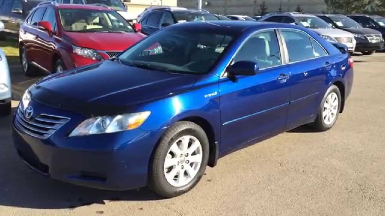 Pre owned blue on grey 2008 toyota camry hybrid 4dr sdn southwest edmonton alberta youtube