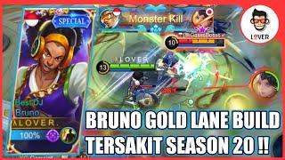 BRUNO GOLD LANE BUILD TERSAKIT SEASON 20 - MOBILE LEGENDS