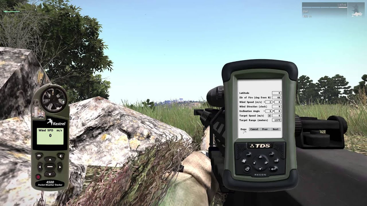 How to zero an ACE scope in Arma 3