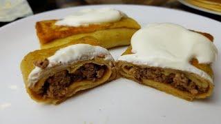 Блинчики фаршированные куриной печенью, цыганка готовит. Gipsy cuisine.🥞