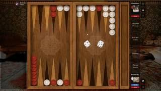 игра в нарды |  a game of backgammon