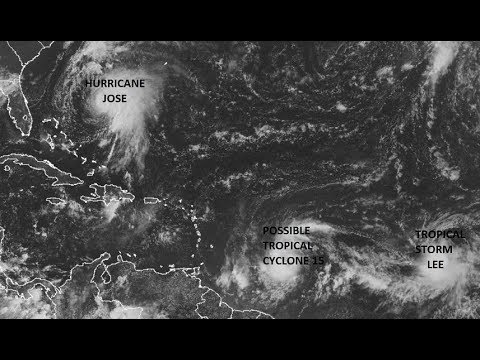 HURRICANE JOSE TROPICAL STORM LEE TROPICAL CYCLONE DEVELOPMENT EAST OF LEEWARDS