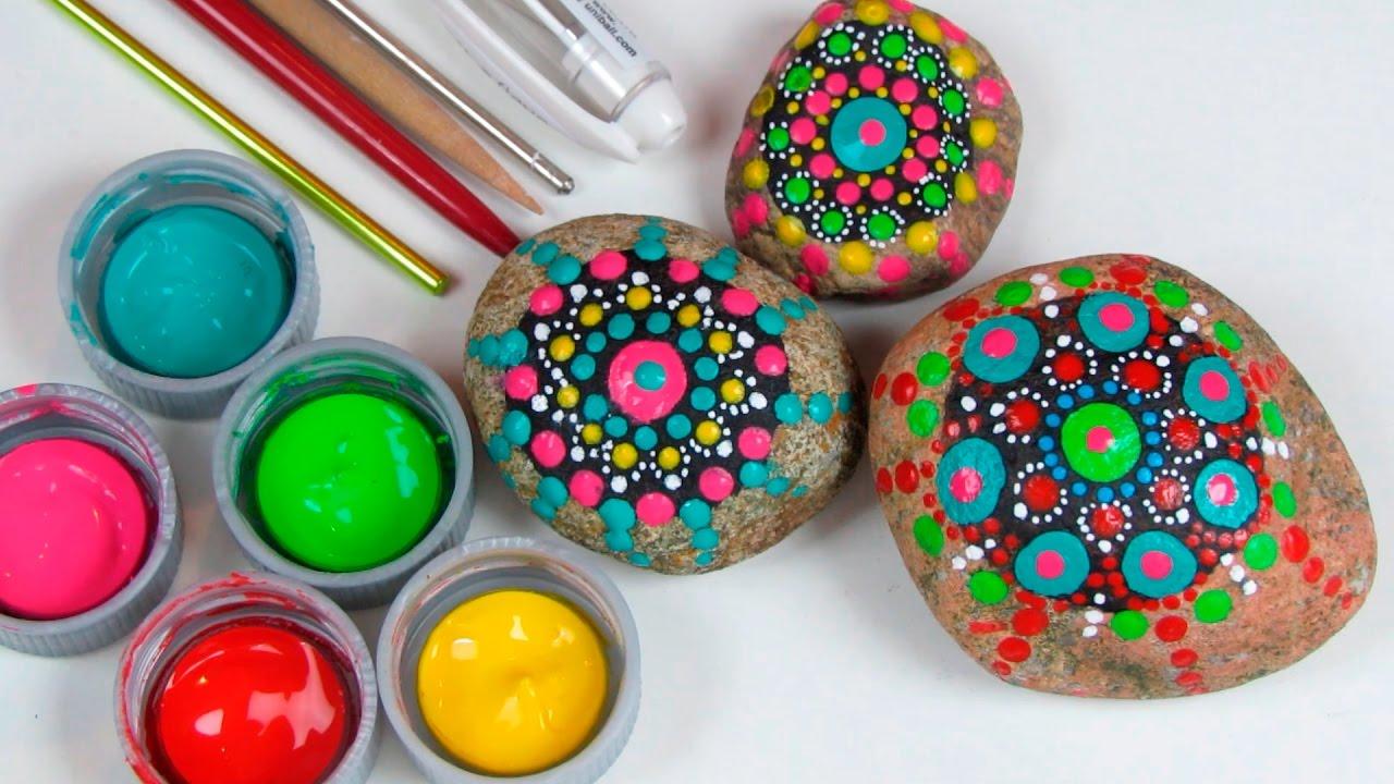 Como Pintar Pedras Com Mandalas Pontilhadas Youtube