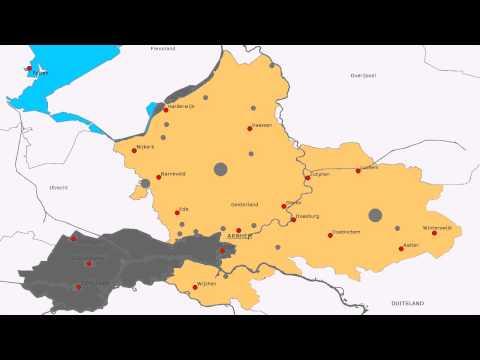 Topografie Provincie Gelderland