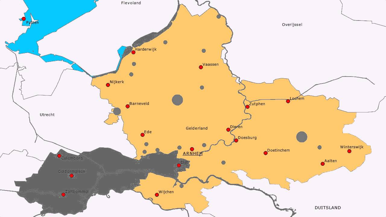 Topografie Provincie Gelderland Youtube