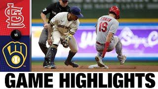 Cardinals vs. Brewers Game Highlights (9/21/21) | MLB Highlights