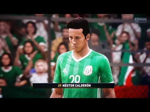 Primer simulación de México vs Alemania mundial Rusia 2018 Xbox one X