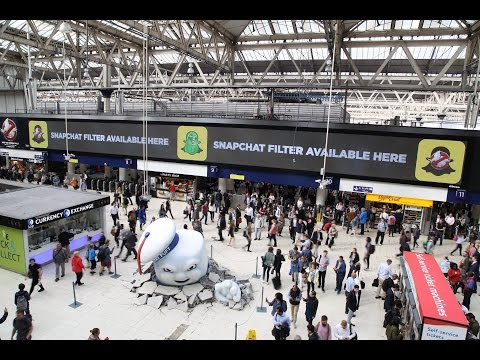 Ghostbusters invade London Waterloo Station   JCDecaux UK
