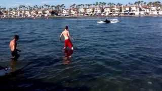 Long Beach Grand Nationals flat bottom K boat finals K 24 victory splash down August 4 2013.
