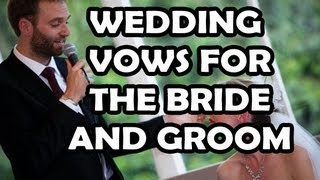 Sample Wedding Vow for the Groom