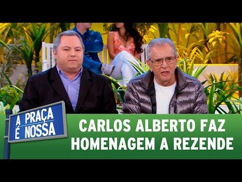 Carlos Alberto presta homenagem a Marcelo Rezende | A Praça É Nossa (13/07/17)