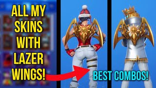 *NEW* FORTNITE MAJOR LAZER SKIN! LAZER WINGS SGOWCASED WITH ALL MY SKINS - BEAT COMBOS BEFORE U BUY!