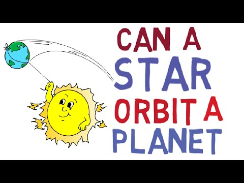 Can a star orbit a planet?