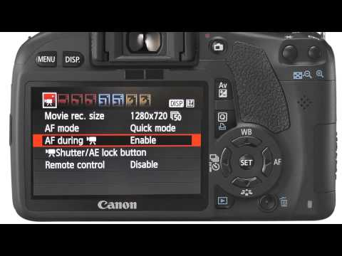 HD video on the Canon EOS 550D / Rebel T2i camera