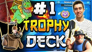 #1 DECK FOR TROPHY PUSHING! Best Balloon Cycle Deck - Clash Royale
