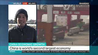 China sees slowest growth in almost 30 years