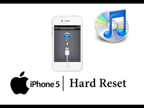 HARD RESET APPLE iPHONE 5 w/ iTunes Master Data Wipe (RESTORE to