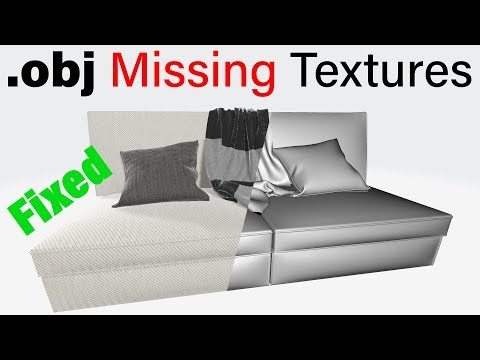How To Fix Obj File Missing Texture - Method 1