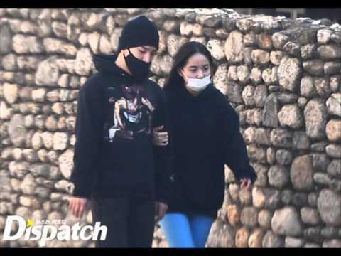 BIGBANGのSOLさん(テヤン)と 彼女の女優のミン・ヒョリンさん 仲の良いデート写真 , YouTube